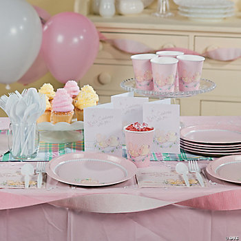 baby girl precious moments baby shower basic party pack oriental