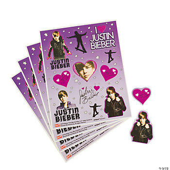 Justin Bieber Sheets on Justin Bieber Sticker Sheets   Oriental Trading