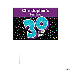Personalized Look Who's 30 Yard Sign