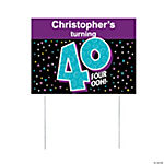 Personalized Look Who's 40 Yard Sign