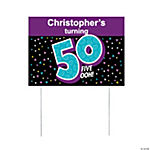 Personalized Look Who's 50 Yard Sign
