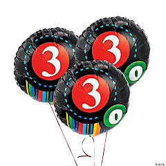 """30th"" Birthday Mylar Balloon Set"