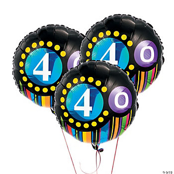 """40th"" Birthday Mylar Balloon Set"