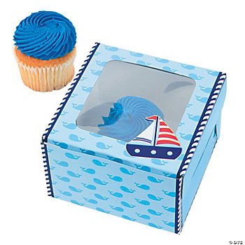 1st Birthday Sailor Cupcake Boxes