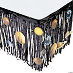 Outer Space Table Skirt With Planet Cutouts