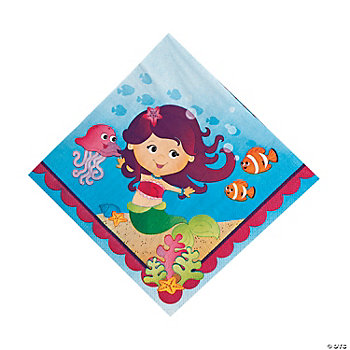 Mermaid Party Lunch Napkins