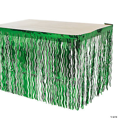 Green Wavy Table Skirt