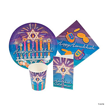 Hanukkah Tableware And Invites