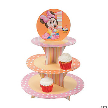 Minnie's 1st Birthday Tiered Cupcake Holder