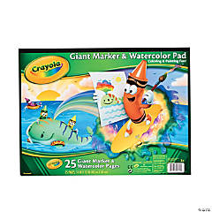 Crayola® Giant Marker & Watercolor Pad
