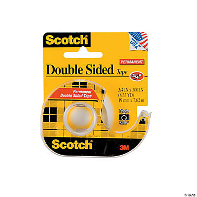 scotch permanent double sided tape oriental trading discontinued. Black Bedroom Furniture Sets. Home Design Ideas