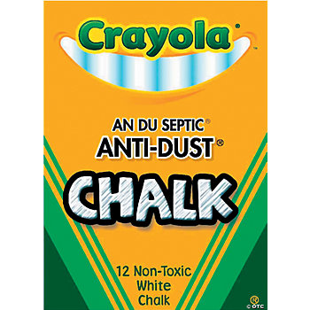 Crayola® Anti-Dust® 12-Pc. White Chalk