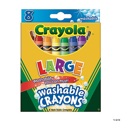 Crayola® Washable Crayons Large - 8 Count