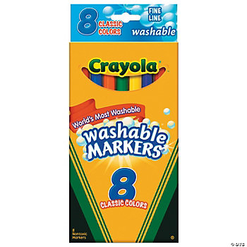 Crayola® 8-Color Classic Washable Fine-Point Markers