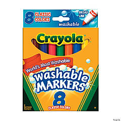 8-Color Crayola® Classic Conical Tip Washable Markers