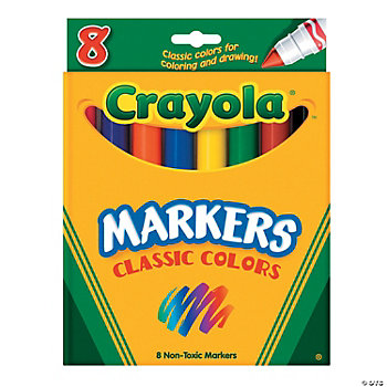 Crayola® 8-Color Classic Conical Tip Markers
