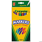 Crayola® 8-Color Classic Fine Tip Markers