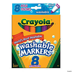 Crayola® 8-Color Washable Conical-Tip Bold Color Markers