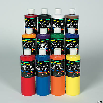 Chromacryl acrylic essentials 12 color set oriental for Craft essentials acrylic paint