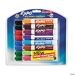 12-Color Expo® Low Odor Dry Erase Markers - 16 piece