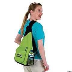Sling Backpacks - Lime Green