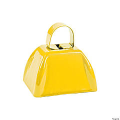 Yellow School Spirit Cowbells