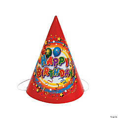 "Cardboard ""Happy Birthday!"" Party Hats"