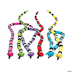 Bright Stuffed Snakes