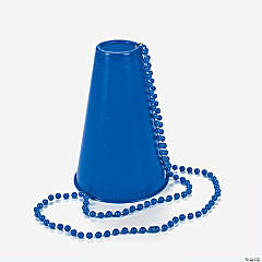 Plastic Blue Beads with Megaphone