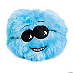 Plush Blue Pillow Ball with Face