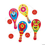 "Wooden ""The Wooglies"" Paddleball Games with Large Ball"