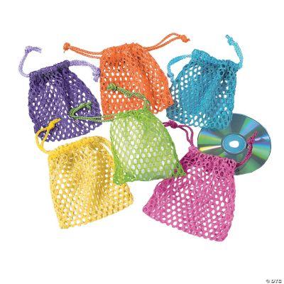 Mesh Neon Drawstring Bags