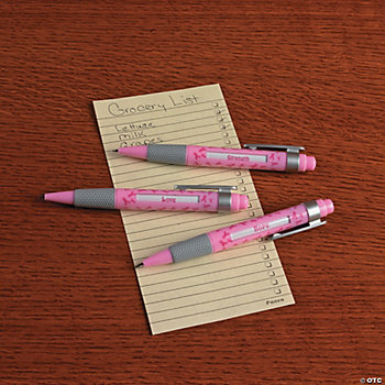 Pink Ribbon Message Pens