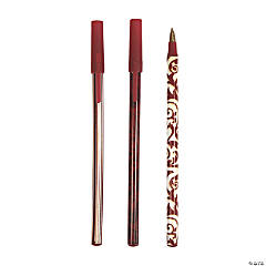 Red On Red Wedding Pens