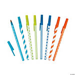 Polka Dot & Striped Stick Pen Assortment