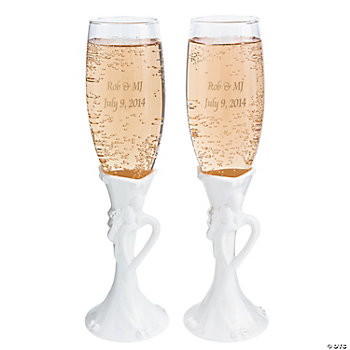 Personalized Bride & Groom Goblets