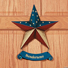 Personalized Patriotic Star Door Hanger