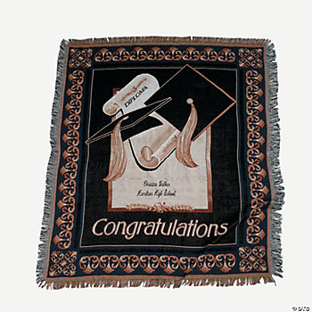 Personalized Graduation Throw