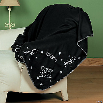 Personalized Embroidered Graduation Throw