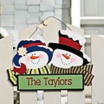 Personalized Snow Couple Sign
