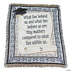 "Personalized ""What Lies Within"" Graduation Throw"