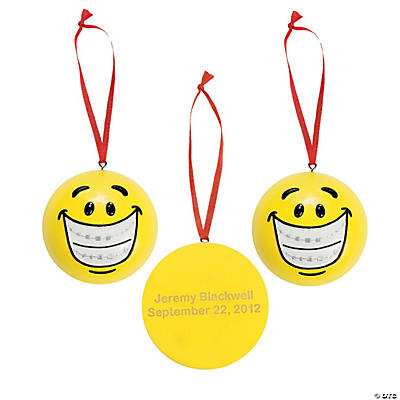 Smile Face with Braces Ornament