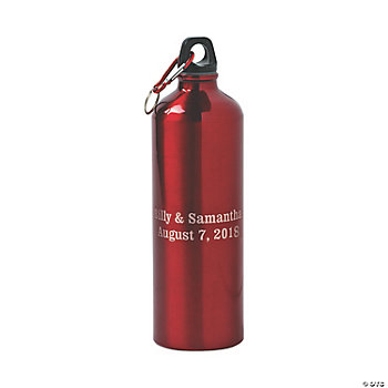 Personalized Water Bottle - Red