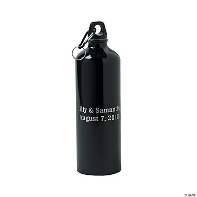 Personalized Water Bottle - Black