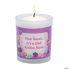 Personalized Sweet Treat Votive Candleholders