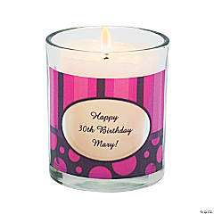Personalized Simply Sassy Votive Candle Holders