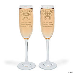 2 Personalized All Aflutter Flutes