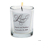 Personalized Love Wedding Votive Holders