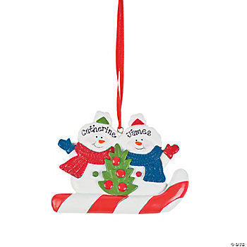 Snowmen Ornament - Two Snowmen