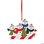 Personalized Christmas Ornament - Four Snowmen